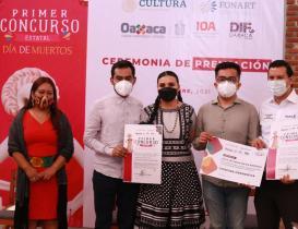 Premian a 14 artesanos de Oaxaca en el Concurso Estatal del Día de Muertos 2021