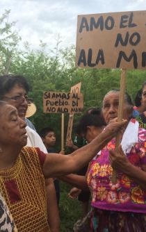 Pueblos se unen contra la minería en Oaxaca