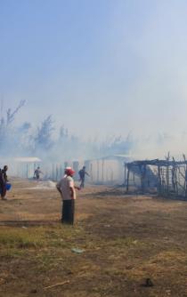 Se quema panteón de La Ventosa, Juchitán