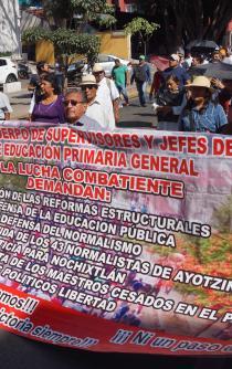 Reitera Sección 22 de la CNTE lucha contra reforma educativa de EPN