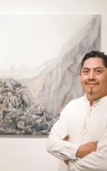 Filogonio, el pintor mazateco que le da vida abstracta a su tierra mística