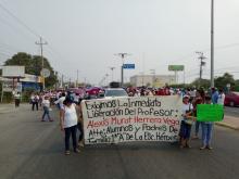 La Sección 22 realizó protestas en el Istmo para la liberación del docente